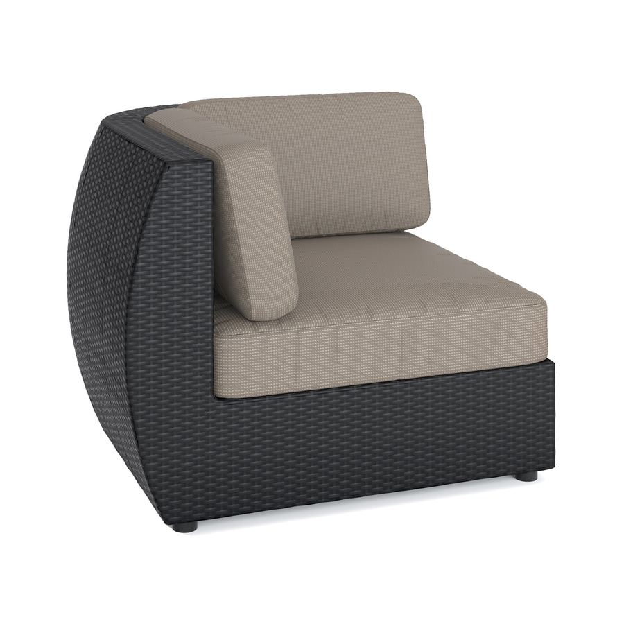 Sonax Seattle Textured Black Wicker Patio Conversation Chair