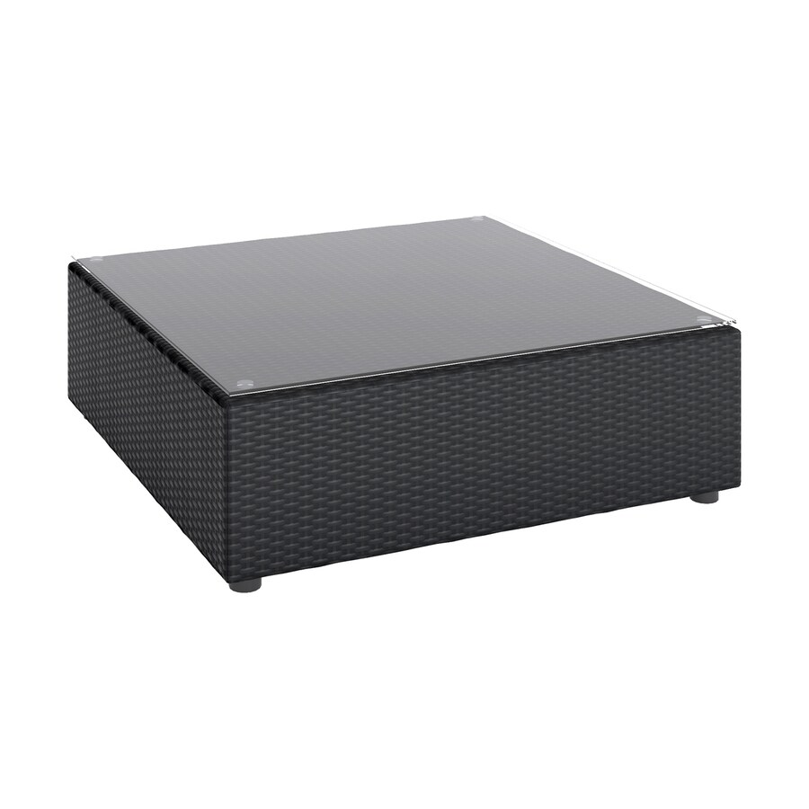 Shop Corliving Seattle W X L Square Steel Wicker Coffee Table At