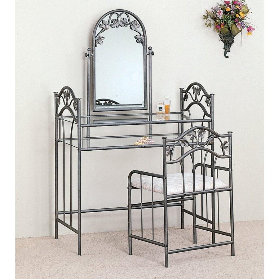 Coaster Fine Furniture Silver Makeup Vanity
