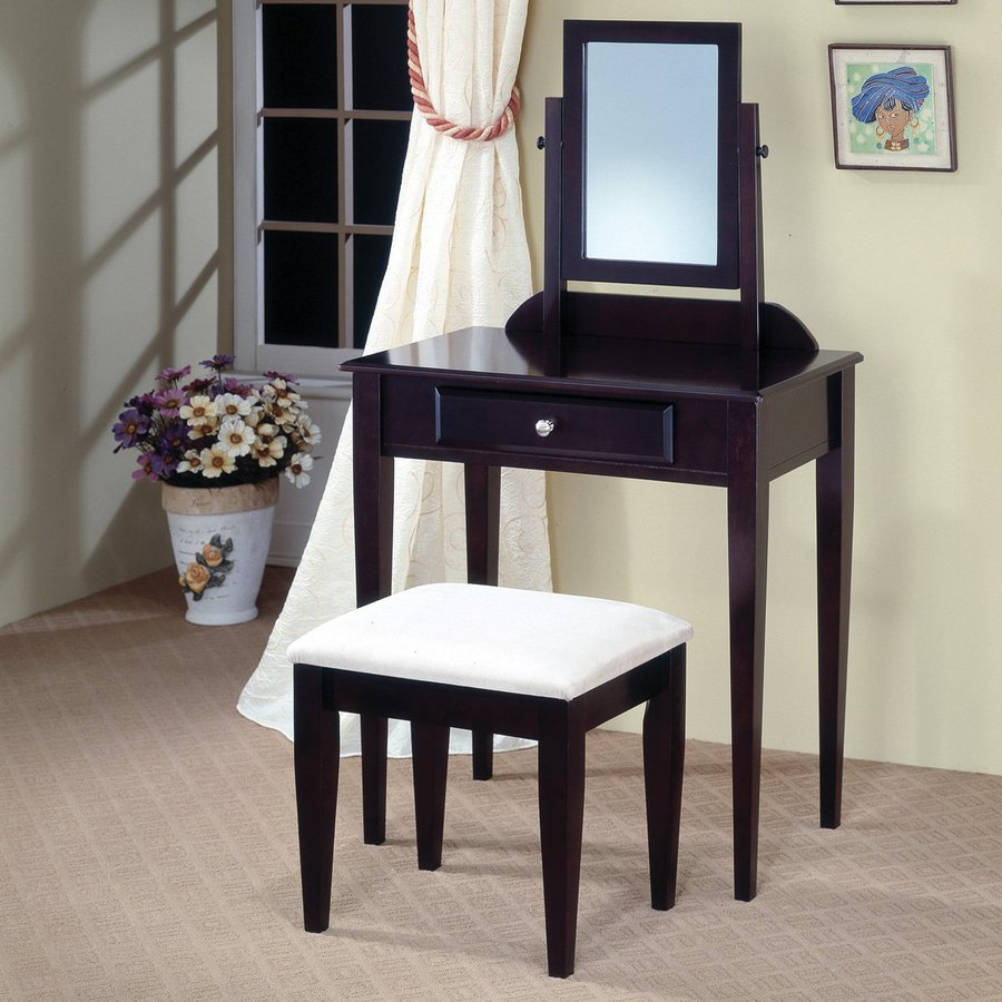 Shop Coaster Fine Furniture Cappuccino Makeup Vanity At Lowes.com