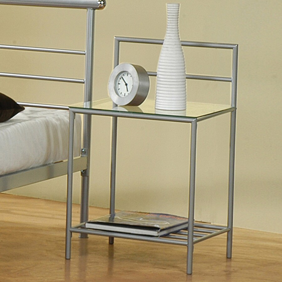 Coaster Fine Furniture Stoney Creek Silver Metal Nightstand