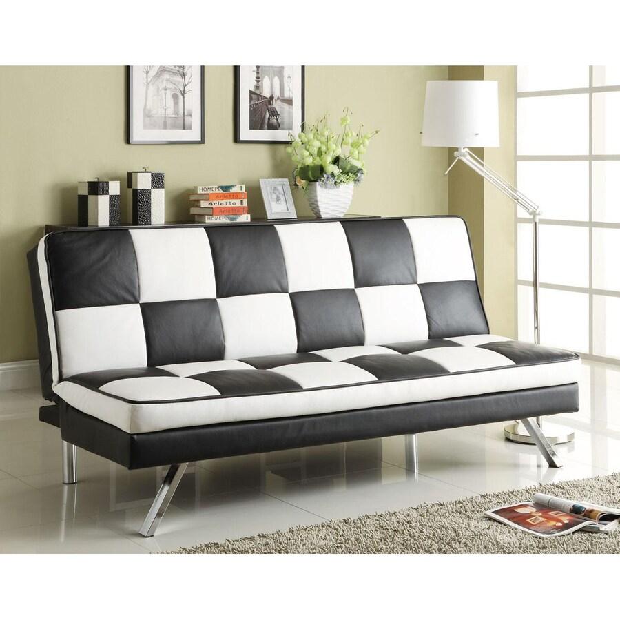 Coaster Fine Furniture Click Clack Black And White Futon