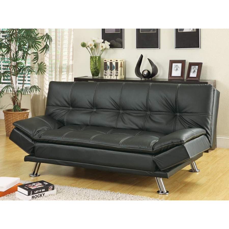 Coaster Fine Furniture Black Vinyl Sofa Bed