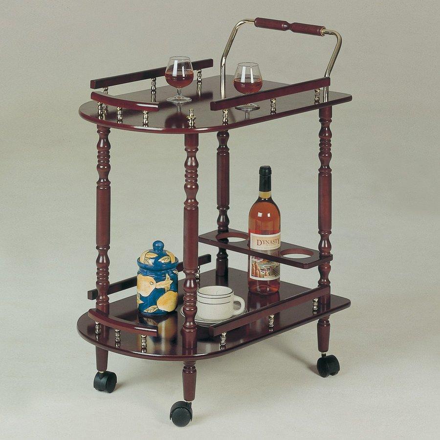 Coaster Fine Furniture 15.75-in x 31.25-in Composite Rectangle Cart Bar