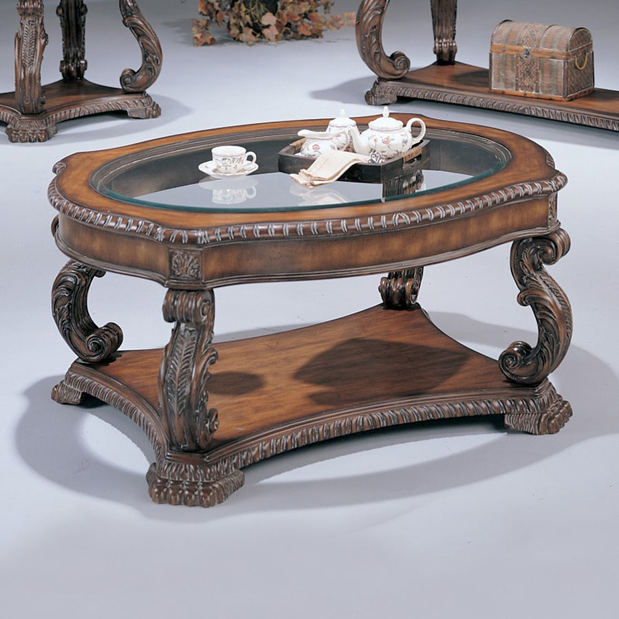 Shop Coaster Fine Furniture Doyle Glass Coffee Table At