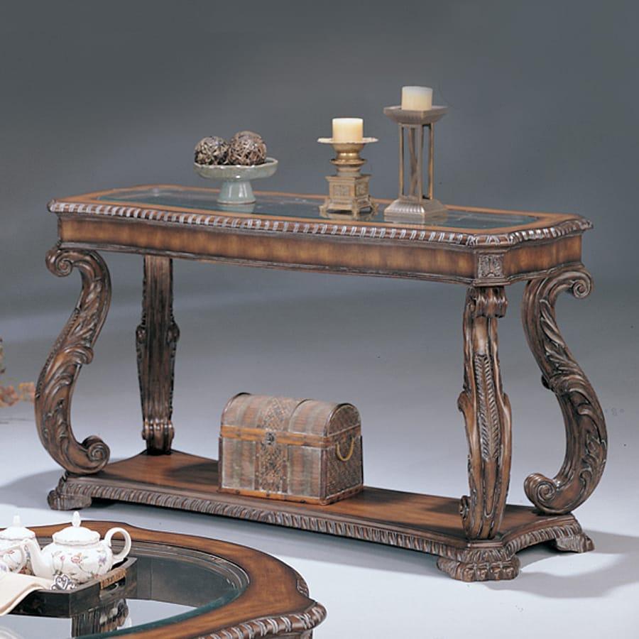 Coaster Fine Furniture Brown Rectangular Sofa Table