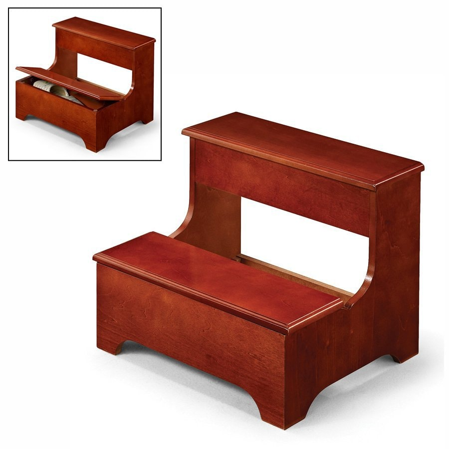Shop Coaster Fine Furniture 2 Step Cherry Wood Step Stool At