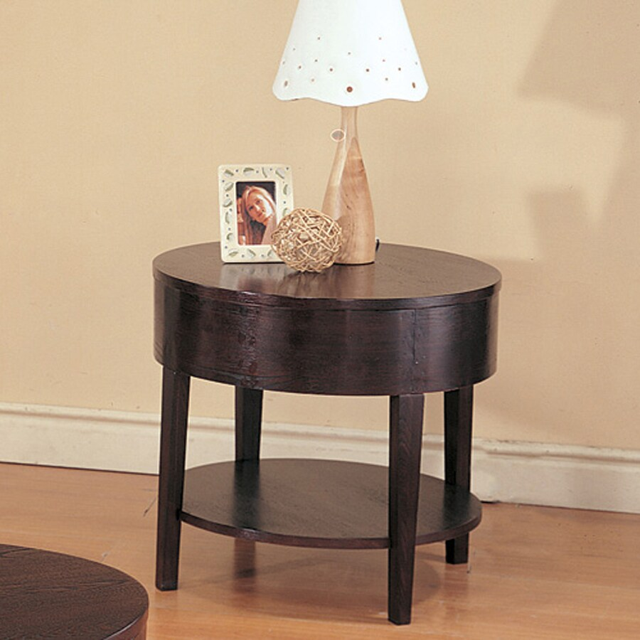 Coaster Fine Furniture Gough Cappuccino Round End Table