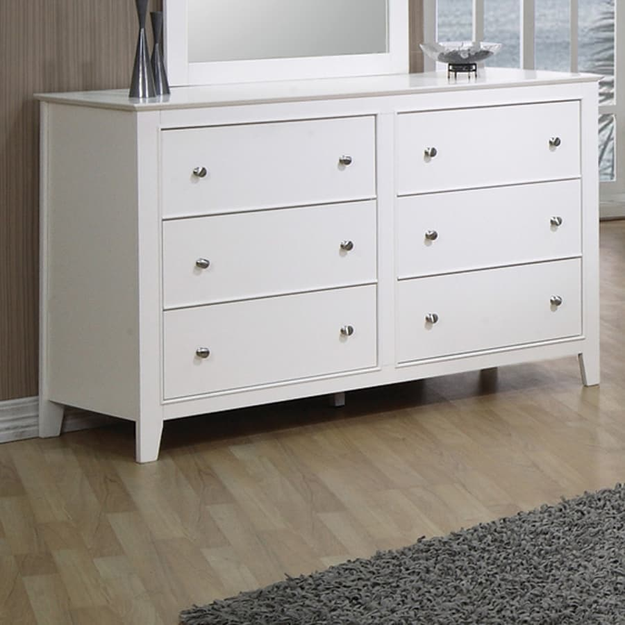 Shop Coaster Fine Furniture Selena White 6 Drawer Dresser