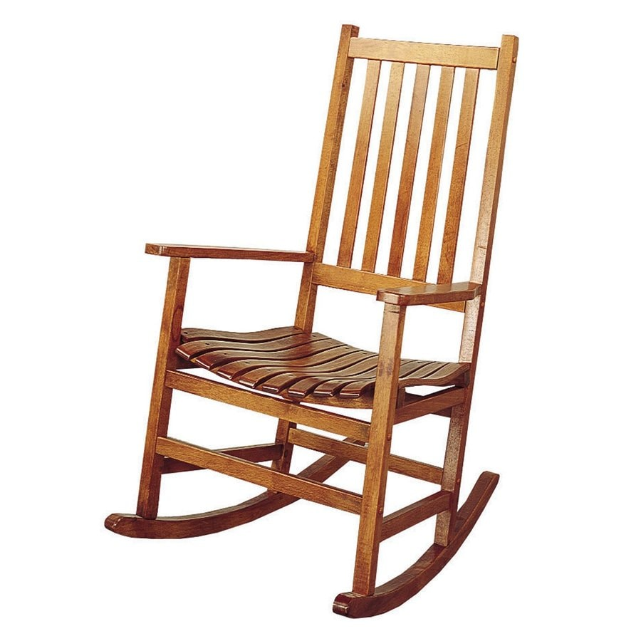 Church chairs with arms - Coaster Fine Furniture Oak Rocking Chair