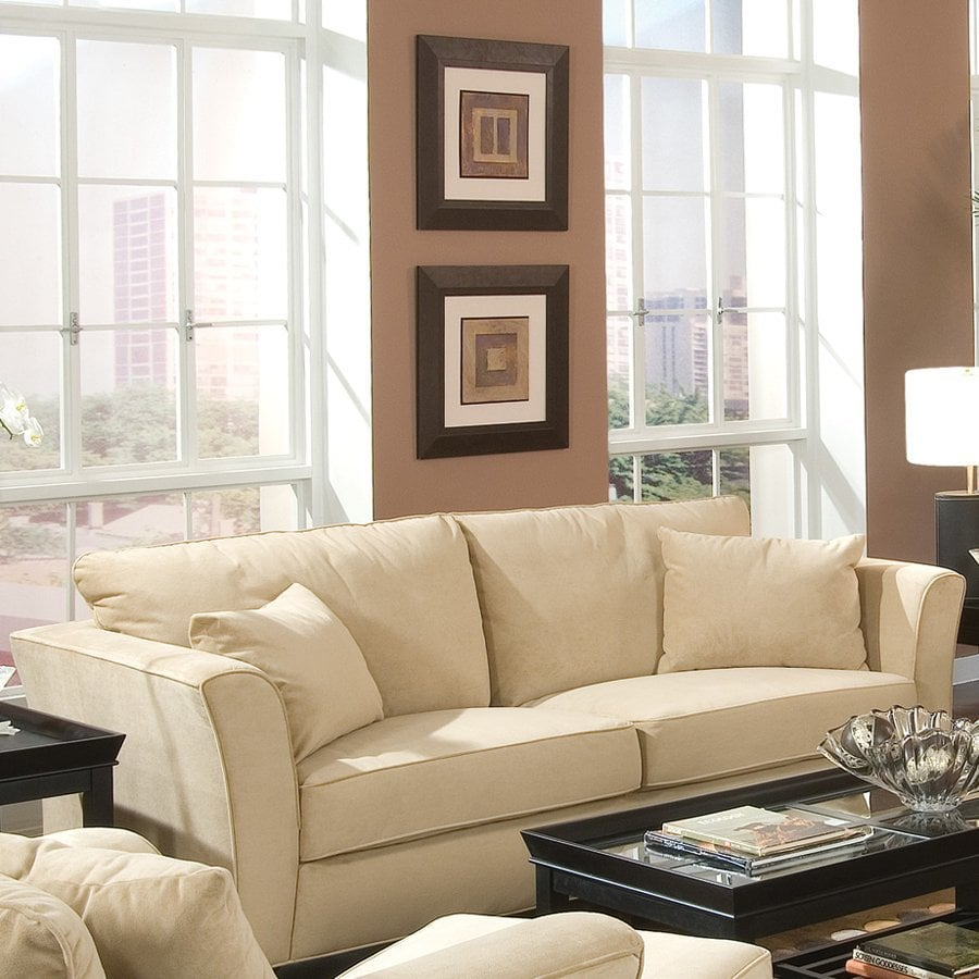 Fine Living Room Furniture. Coaster Fine Furniture Park Place Cream Velvet Sofa Shop at Lowes com