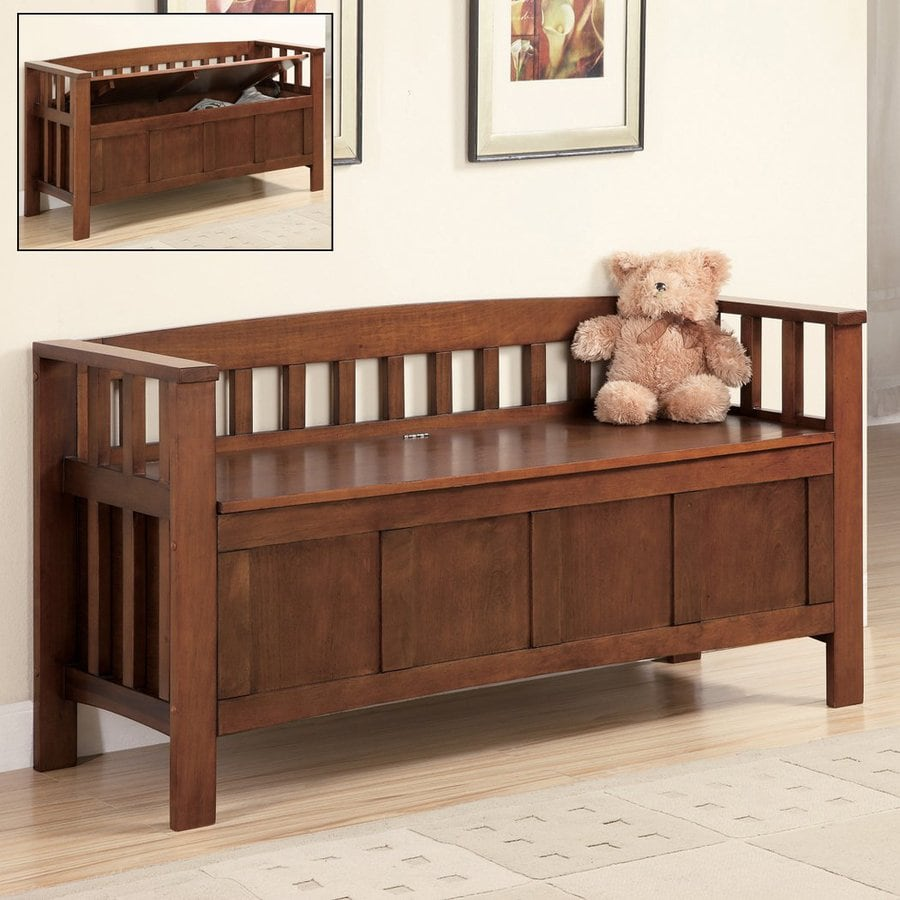 Coaster Fine Furniture Walnut Indoor Storage Bench