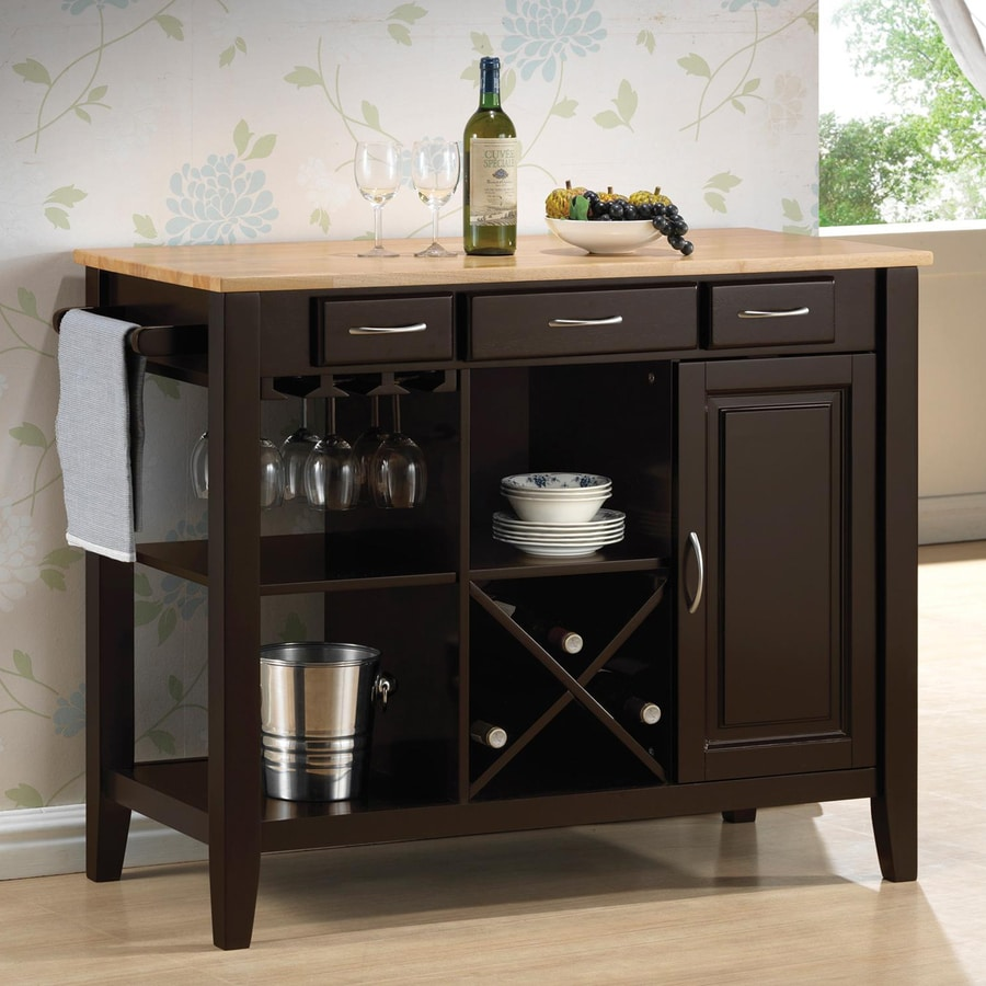 Shop Coaster Fine Furniture X 36 In Rubberwood Rectangle Mini Bar At