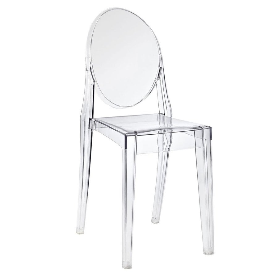 Modway Casper Clear Stackable Side Chair