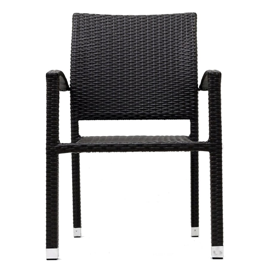Modway Bella Espresso Rattan Plastic Patio Dining Chair