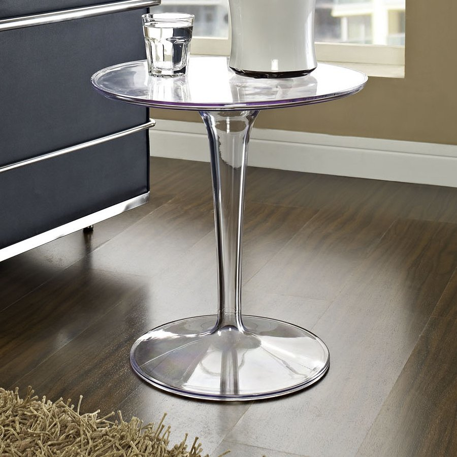 Modway Canvas Clear End Table