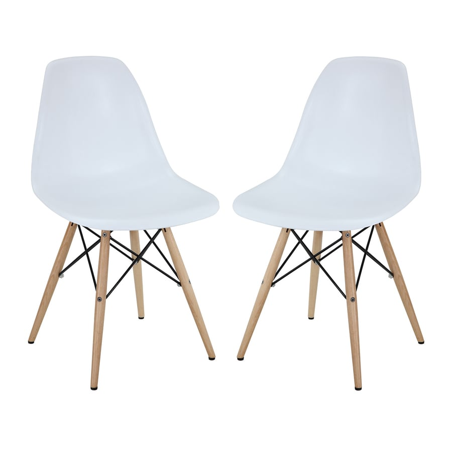 Modway Set of 2 Pyramid Contemporary Side Chair