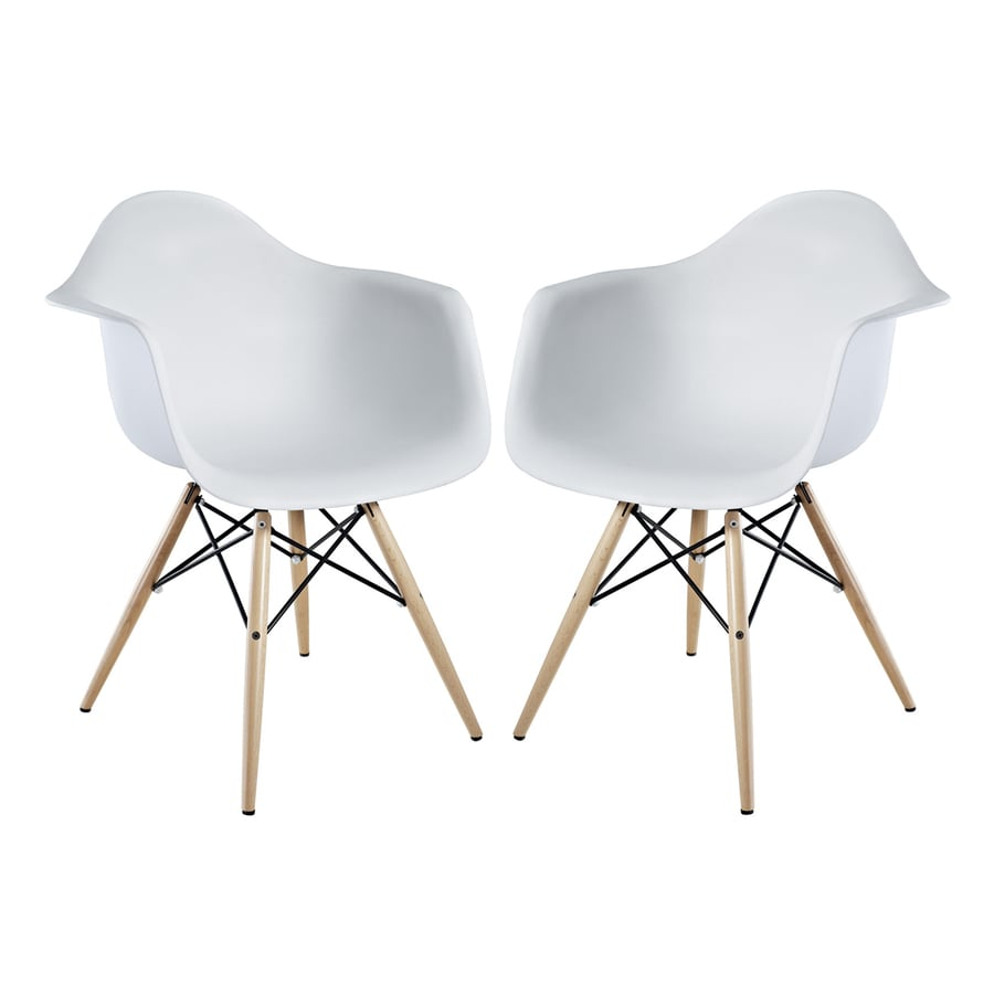 Modway Set of 2 Pyramid Contemporary Arm Chair