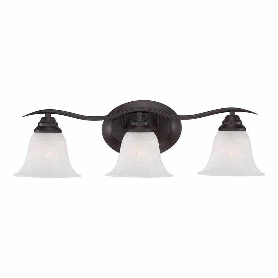 Volume International Trinidad 3-Light 8.25-in Antique bronze Bell Vanity Light