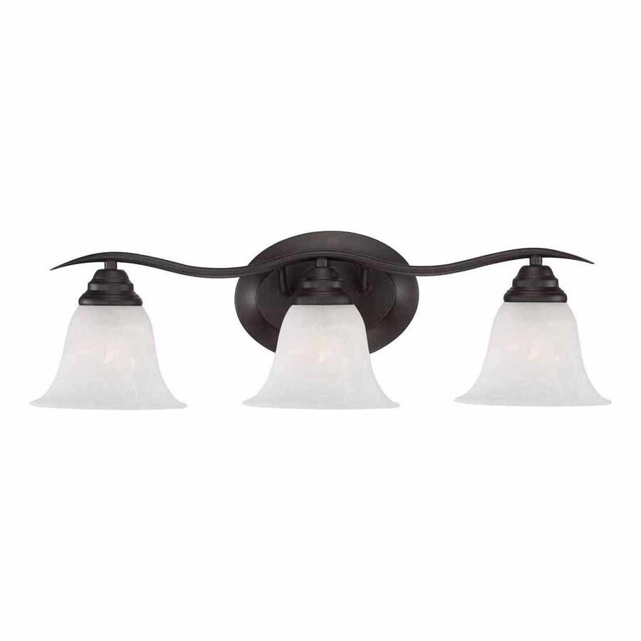 Shop Volume International Trinidad 3-Light 8.25-in Antique Bronze Bell Vanity Light at Lowes.com