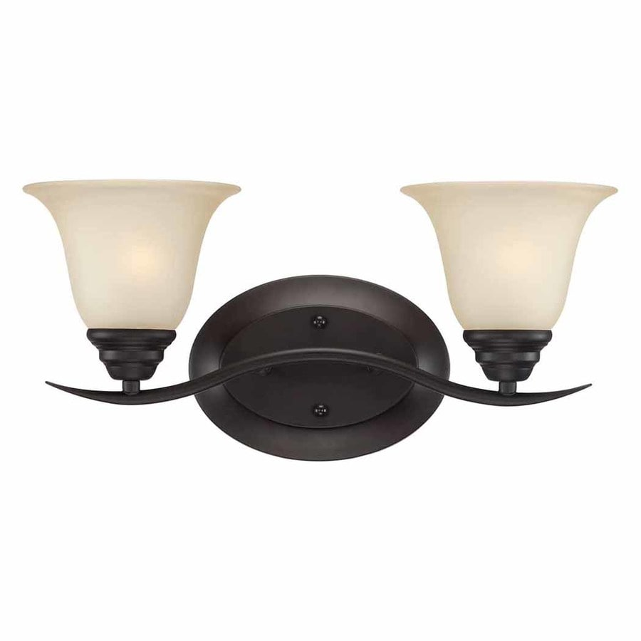 Volume International Trinidad 2-Light 8.25-in Antique bronze Bell Vanity Light