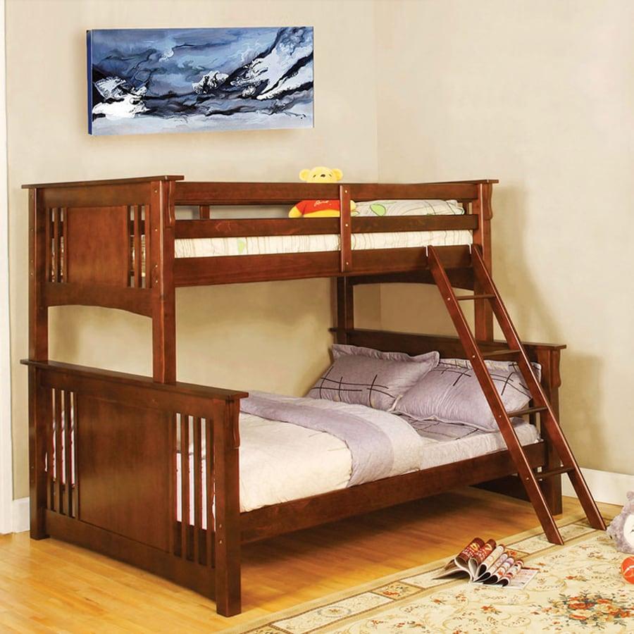 Shop furniture of america spring creek dark oak twin over for Furniture of america loft bed