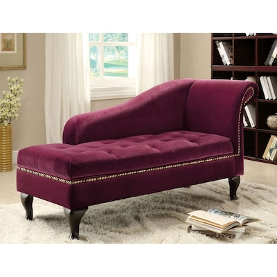 Outstanding Lakeport Glam Red Violet Microfiber Chaise Lounge Squirreltailoven Fun Painted Chair Ideas Images Squirreltailovenorg
