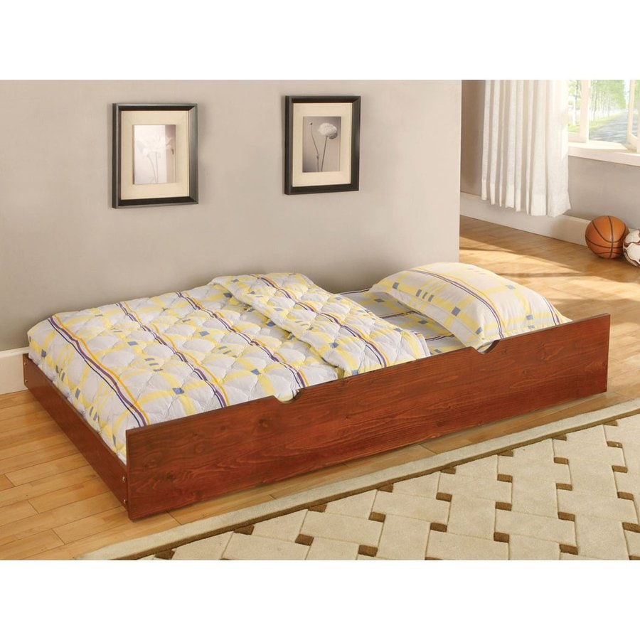 Shop Furniture Of America Omnus Oak Twin Trundle Bed At