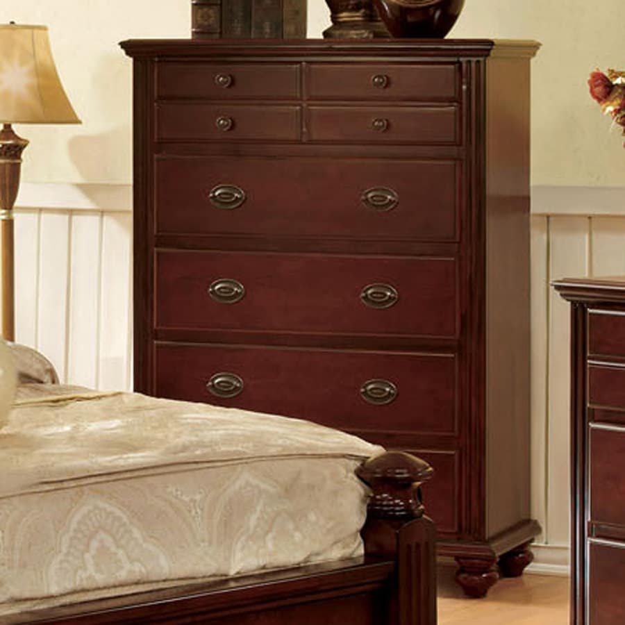 Furniture of America Gabrielle II Cherry Standard Chest