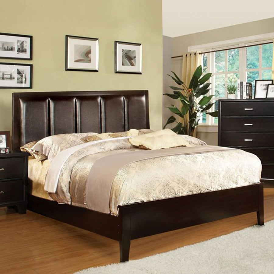 Furniture of America Chester Espresso Low-Profile Bed