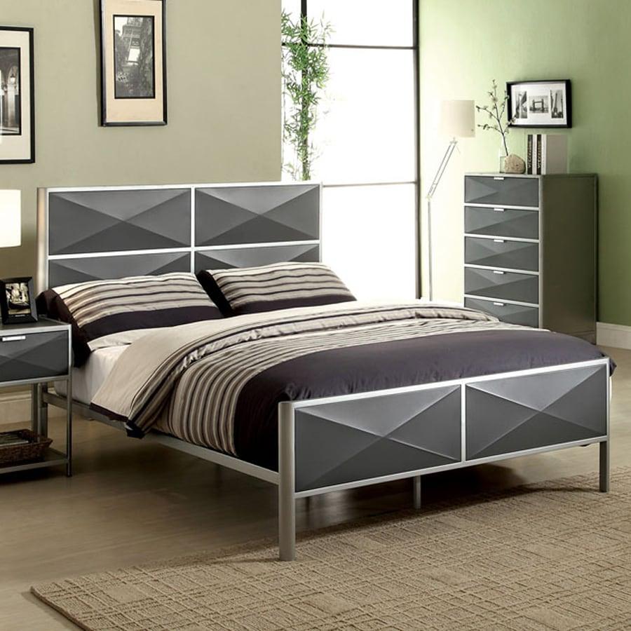 Furniture of America Largo Dark Gray Panel Bed