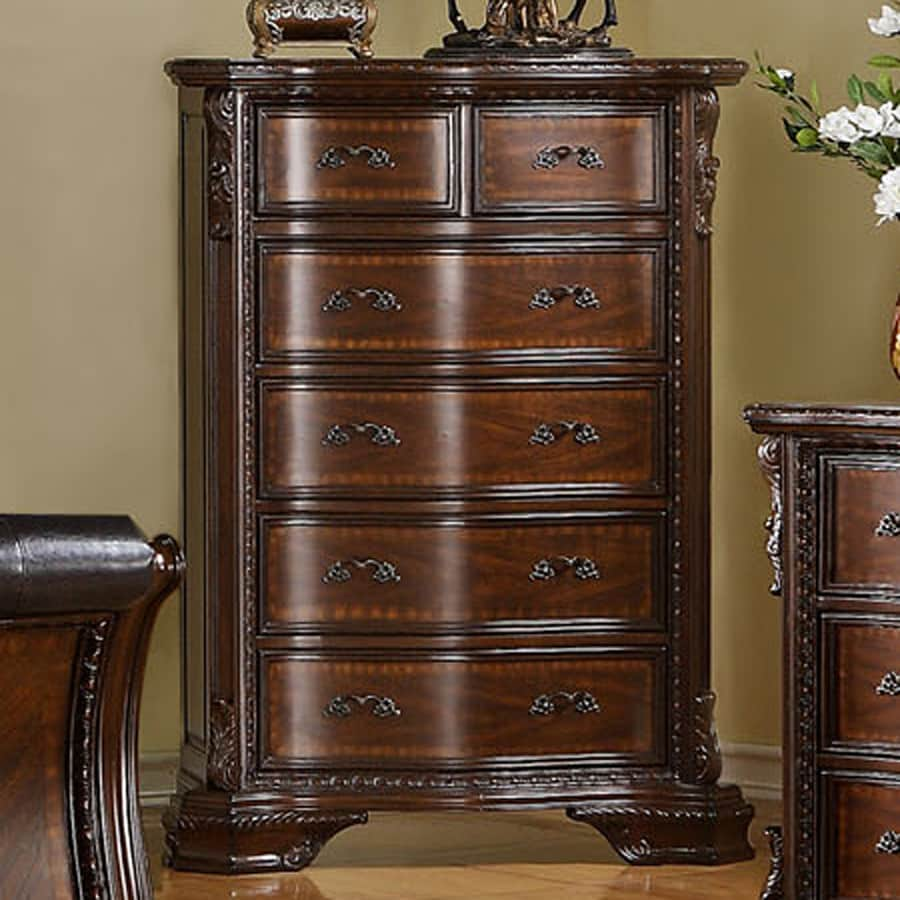 Furniture of America South Yorkshire Brown Cherry Standard Chest