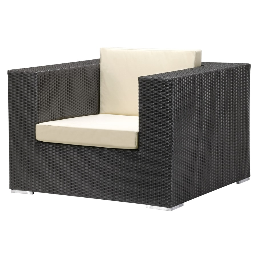 Zuo Modern Cartagena Espresso Wicker Patio Conversation Chair