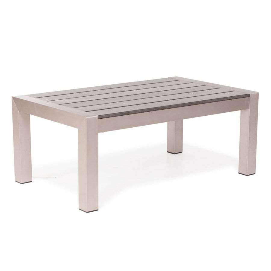 Zuo Modern Cosmopolitan 23.6-in W x 39.4-in L Rectangle Aluminum Coffee Table
