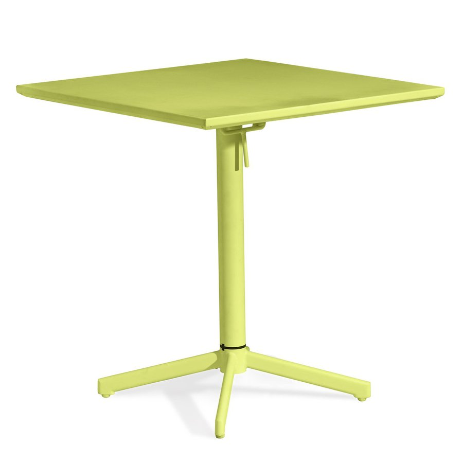 Zuo Modern Big Wave 27.6-in W x 27.6-in L Square Steel Folding Bistro Table