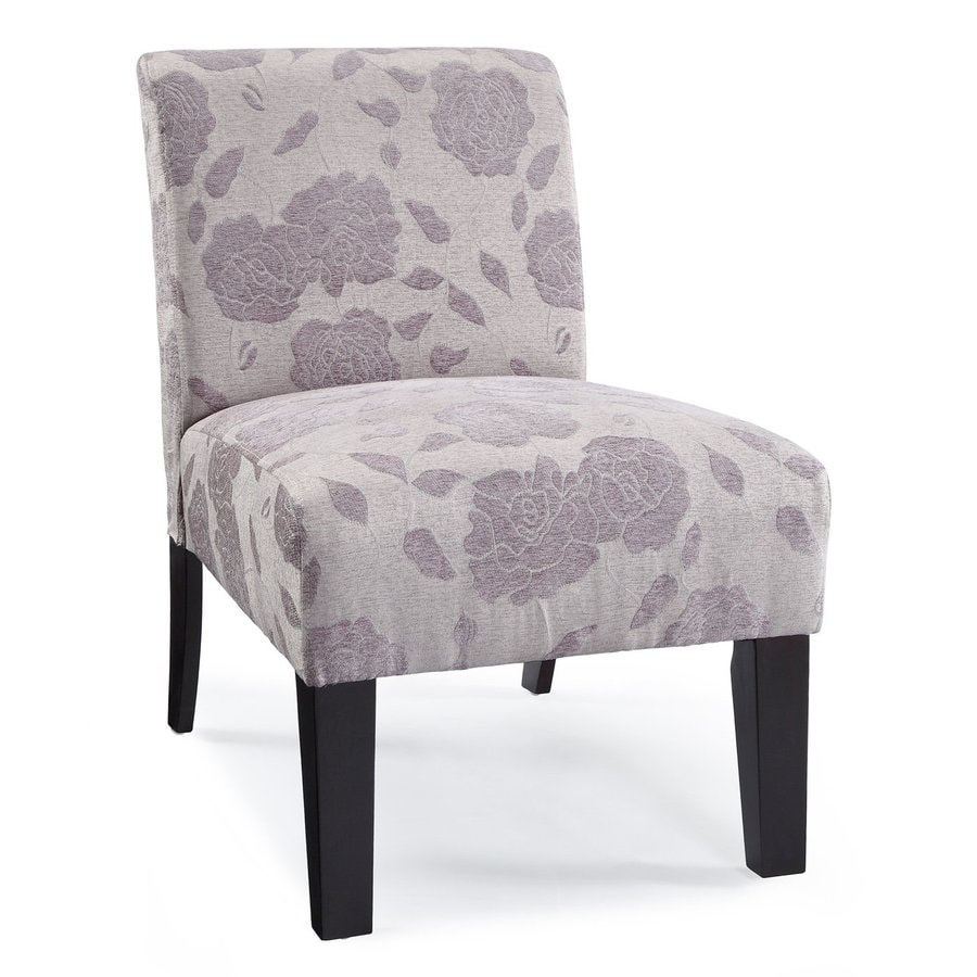 DHI Deco Purple Rose Polyester Accent Chair