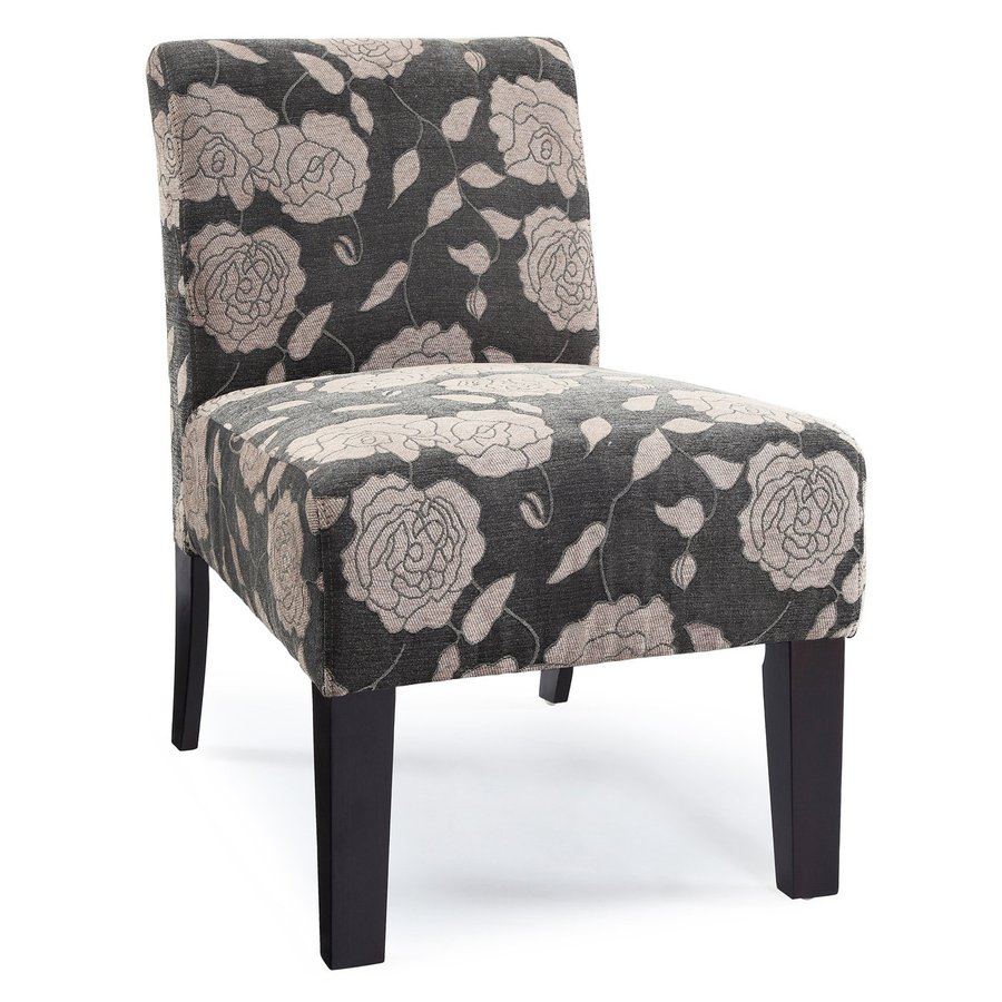 DHI Deco Grey Rose Polyester Accent Chair