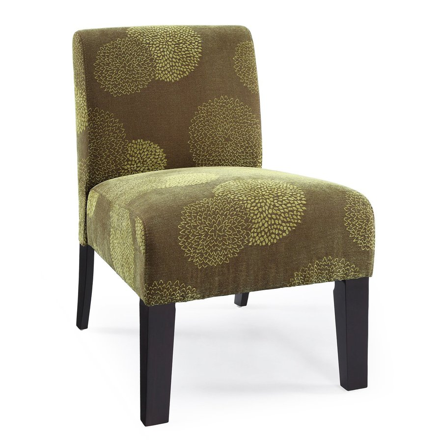 DHI Deco Green Sunflower Polyester Accent Chair