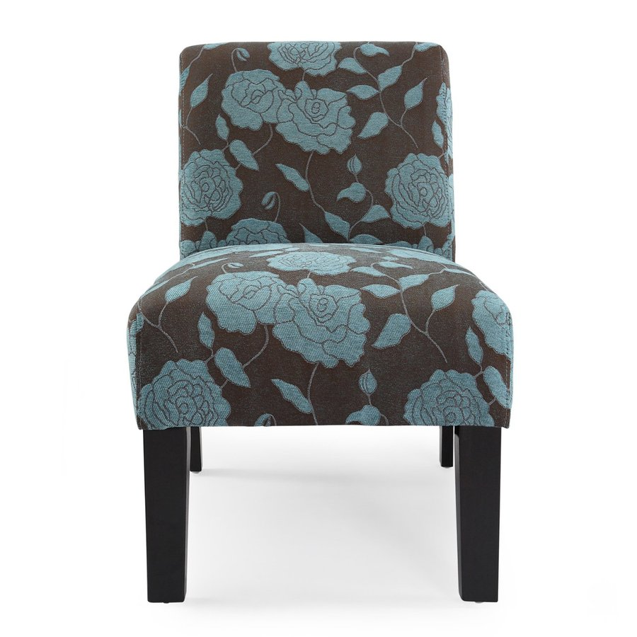 Shop Dhi Deco Blue Rose Accent Chair At
