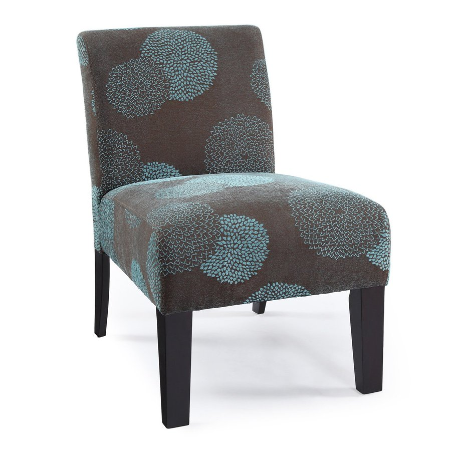 Dhi Deco Modern Blue Sunflower Accent Chair At Lowes Com
