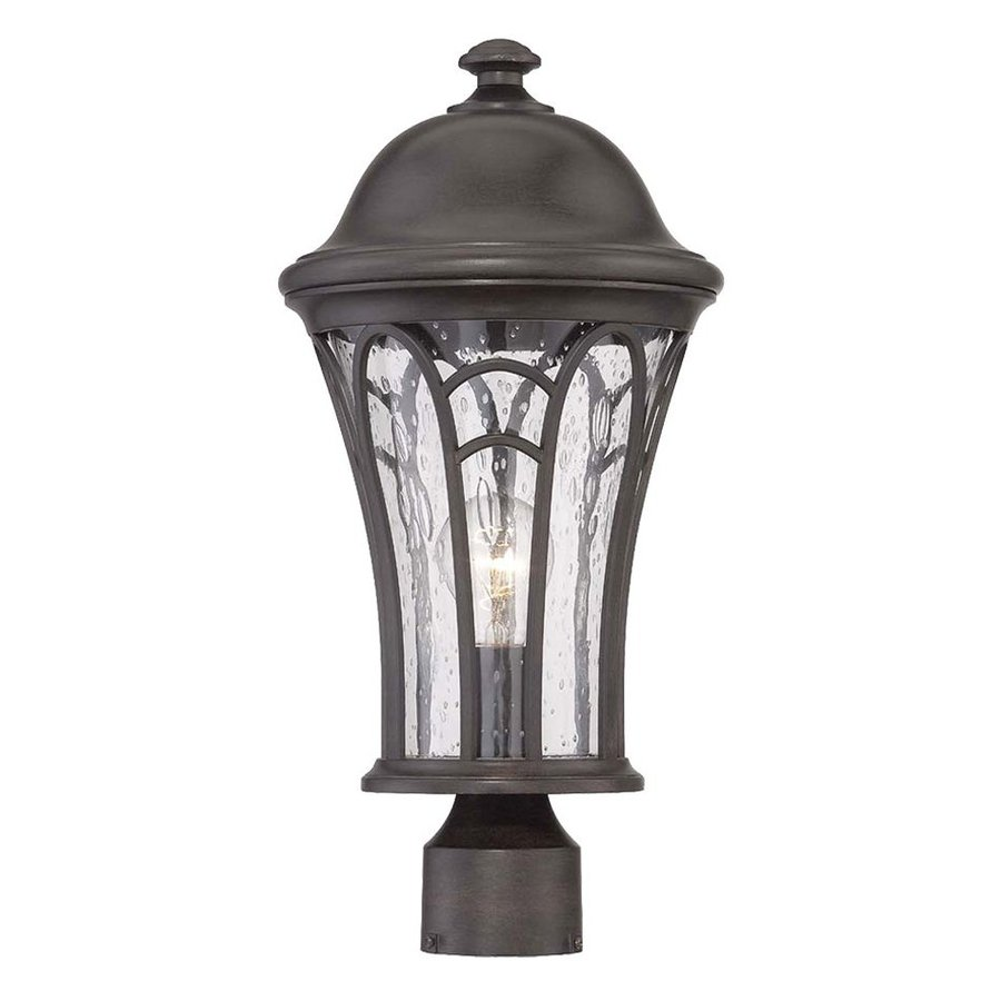 Acclaim Lighting Highgate 19-in H Black Coral Post Light