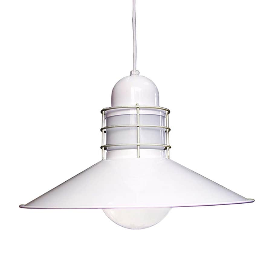 Volume International 17.25-in White Industrial Single Warehouse Pendant