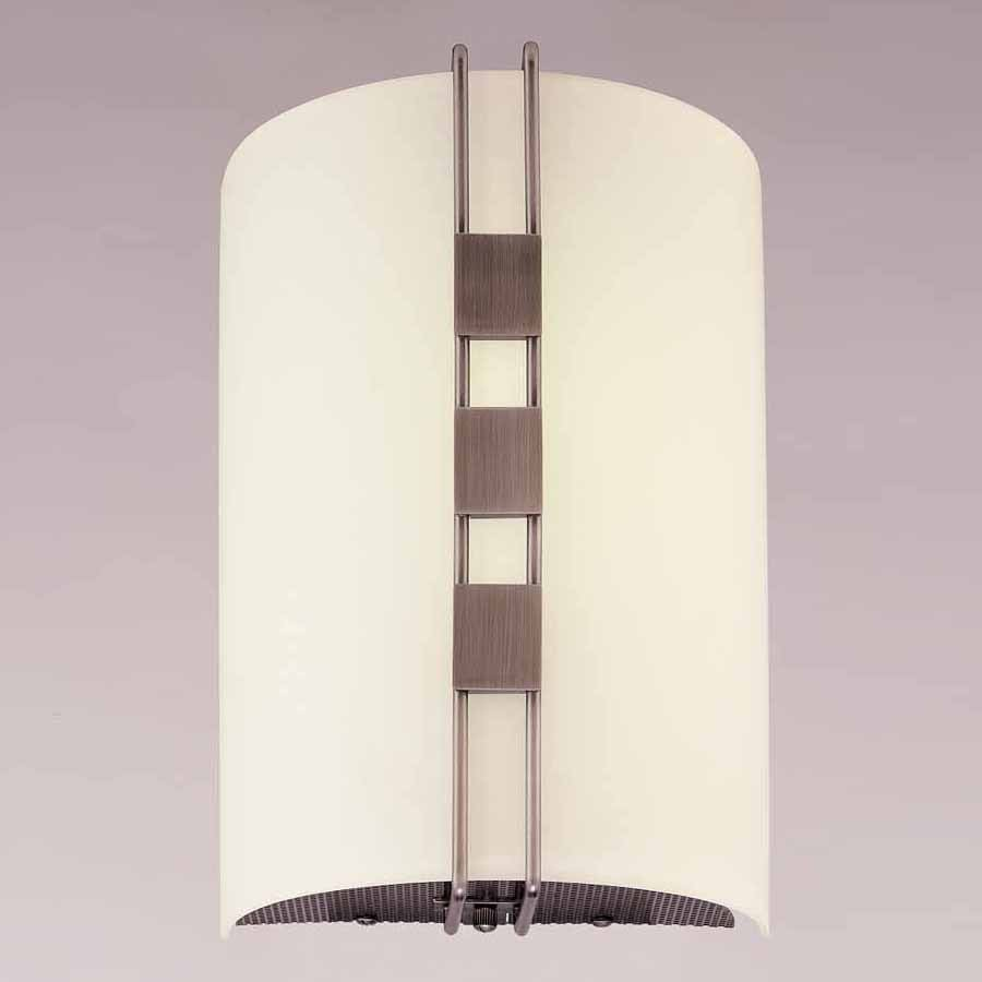 Volume International Architectural 7.5-in W 1-Light Black Brushed Nickel Pocket Wall Sconce