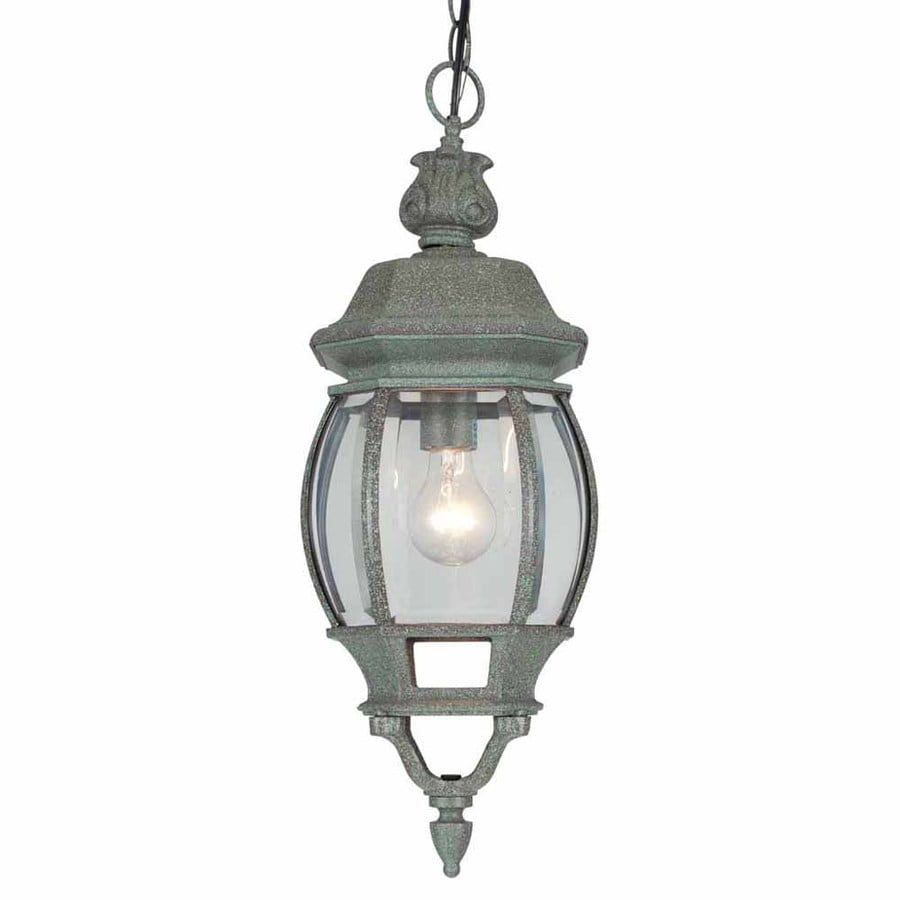 Volume International 22-in Mottled Verde Green Outdoor Pendant Light