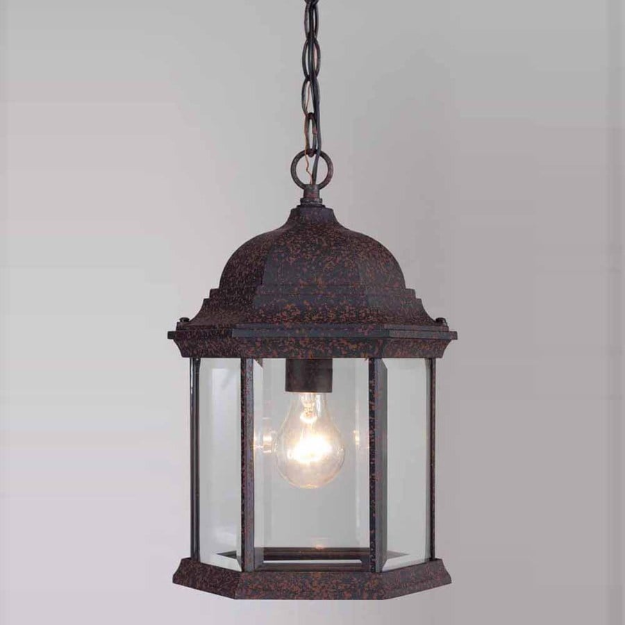 Volume International 14.75-in Rust Outdoor Pendant Light
