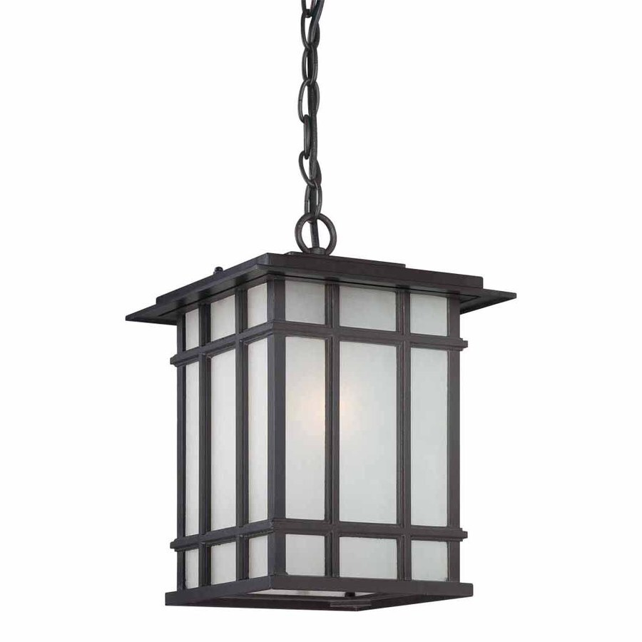 Volume International 13-in Antique Bronze Outdoor Pendant Light