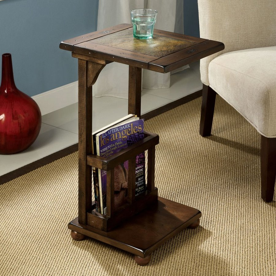 Furniture of America Wilcox Antique Walnut Rectangular End Table
