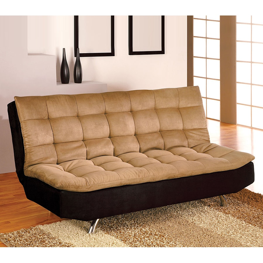 Furniture Of America Mancora Camel/Black Microfiber Futon