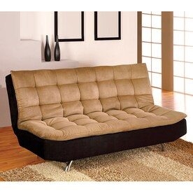 Furniture Of America Mancora Camel Black Microfiber Futon
