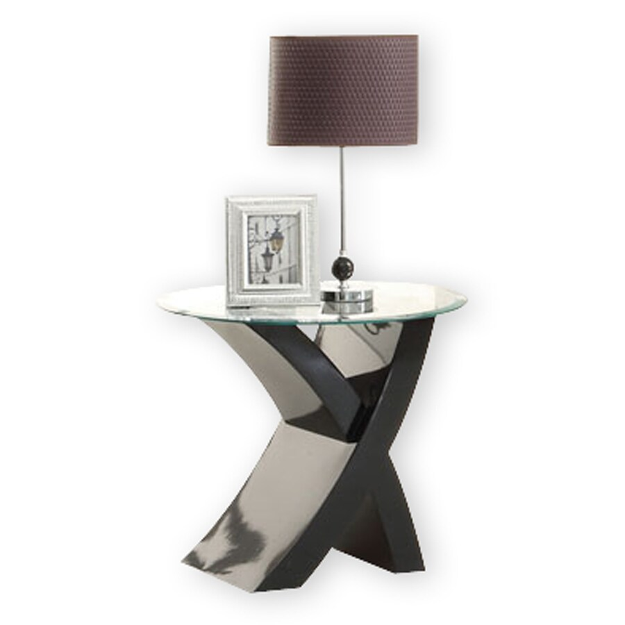 Furniture of America Xtres Black Round End Table